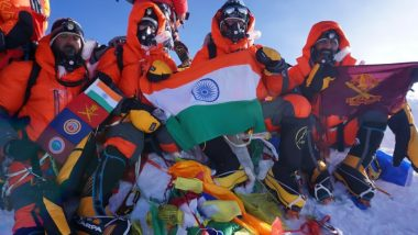 Indian Army Team Led by Col Thapa Flies Tricolour Atop Mt Everest