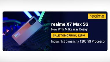 Realme X7 Max Milky Way Variant First Online Sale Tomorrow