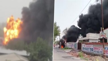 Greater Noida: Fire Breaks Out in a Chemical Factory in Surajpur Industrial Area; No Casualty Reported
