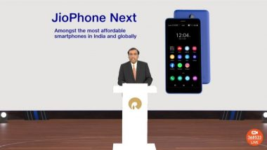 Reliance AGM 2021: JioPhone Next Affordable Smartphone Announced, To Be Available on September 10, 2021
