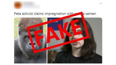 PETA Activist Impregnated Herself With Gorilla Semen? Fake News Goes Viral, Here Is a Fact Check
