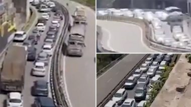 Himachal Pradesh Traffic Update: Massive Jam Seen on the Entry Point to HP After Govt Eased COVID-19 Restrictions (Watch Video)