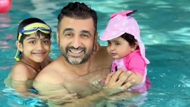 Father's Day 2021: Shilpa Shetty Shares Pic of Hubby Raj Kundra Chilling with Kids in Pool, Says 'To Our Family You Are Our World'