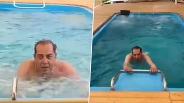 Dharmendra Starts Water-Aerobics Along With Yoga, Proves Age is Just a Number for the Veteran Actor (Watch Video)