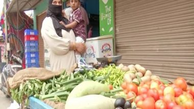 India News | To Earn a Living After Husband's Death, Hyderabad Woman Starts Selling Vegetables