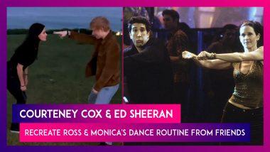 Courteney Cox & Ed Sheeran Recreate Ross & Monica's Dance Routine From Friends