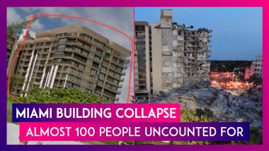 Miami Building Collapse: Almost 100 People Uncounted For; Rescue Operations Underway