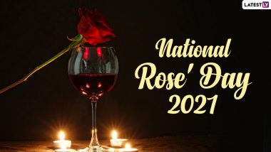 National Rose' Day 2021 Greetings: Latest Quotes, Wishes, WhatsApp Stickers, Messages and HD Images to Send to 'Rose' Wine Lovers
