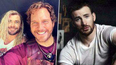 Chris Evans Birthday: Chris Hemsworth Puts Up a Selfie With Chris Patt To Hilariously Wish the Marvel Star!