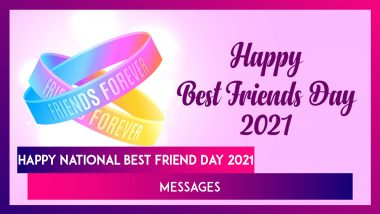 Happy National Best Friend Day 2021 Messages: Images, Friendship Quotes & Greetings for Special Day