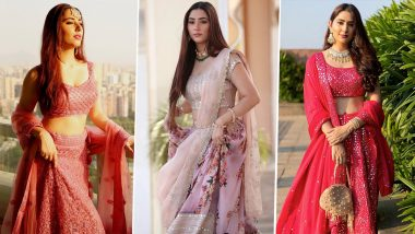 Disha Parmar Ethnic Wear Style File: From Sequin Lehenga to Chikankari Salwar Suit; 7 Times the Telly Diva Gave Us Traditional Outfit Goals