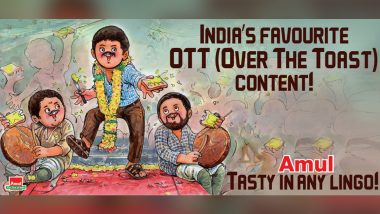 Amul Topical Celebrates Popularity of South Indian Movies on OTT With a Quirky Poster (View Pic)