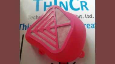 Thincr Technologies, Pune Based Firm, Comes Up With 3D-Printed Masks Coated With Anti-Viral Agents to Fight Against COVID-19