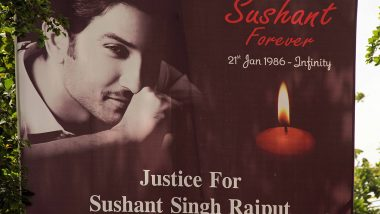 Sushant Singh Rajput Death Anniversary: SSR's Fans Gather Outside His Residence to Pay Him a Tribute (View Pics)