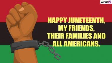 Happy Juneteenth Day 2021 Wishes, Quotes & HD Images: Inspirational Sayings, Powerful Messages, WhatsApp Greetings and Wallpapers to Celebrate Freedom Day in America