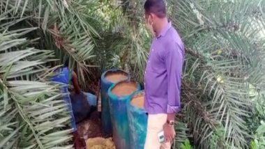 India News   3,000 Litres of Jaggery Wash Destroyed, 50 Litres of Country Liquor Seized in Andhra's East Godavari