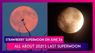 Strawberry Supermoon On June 24: All About 2021's Last Supermoon