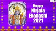 Nirjala Ekadashi 2021 Wishes & Greetings: WhatsApp Messages, HD Images, Wallpapers and SMS to Celebrate the Holy Festival of Pandava Ekadashi