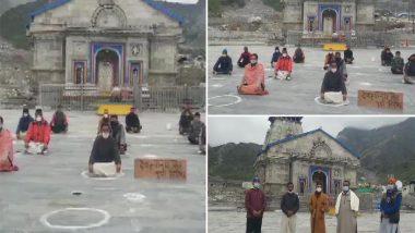 Uttarakhand: Priests Sit on Silent Protest Outside Kedarnath Temple Demanding That Uttarakhand Char Dham Devasthanam Management Board be Disbanded