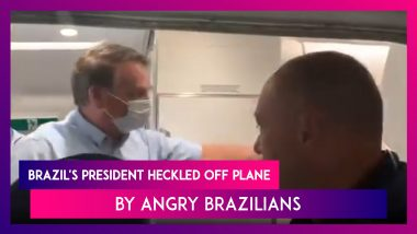 Jair Bolsonaro, Brazil's President Heckled Off Plane As Angry Brazilians Call Him Out For Covid-19 Mismanagement
