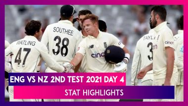 ENG vs NZ 2nd Test 2021 Day 4 Stat Highlights: New Zealand Defeat England By 8 Wickets
