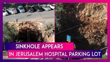 Israel: Sinkhole Appears In Jerusalem Hospital Parking Lot, Three Cars Swallowed