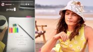 Alia Bhatt Begins Prep for Darlings, Shares a Picture of the Script on Instagram