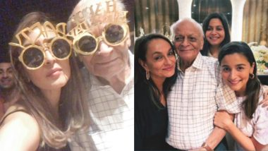 Alia Bhatt's Grandfather Turns 93! Ranbir Kapoor, Neetu Singh, Riddhima Kapoor and More Come Together to Celebrate the Occasion (View Pics)