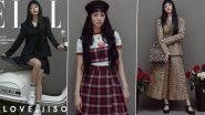 BLACKPINK's Jisoo Looks Chic, Bold and Edgy As She Turns Cover Girl for Elle India's Latest Edition; Check Out Her Photoshoot Pictures!