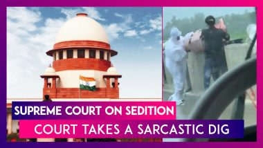 Supreme Court On Sedition: Dumping Of Bodies In Rivers Echoes In SC, Court Takes A Sarcastic Dig At Sedition Cases