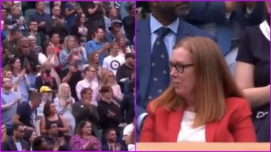 Dame Sarah Gilbert, Scientist Behind Oxford COVID Vaccine, Gets Standing Ovation at Wimbledon's Centre Court (Watch Video)
