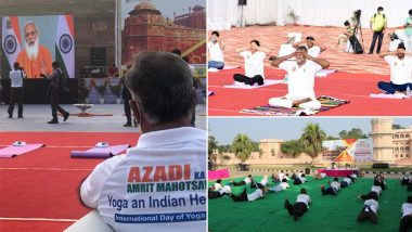 International Yoga Day 2021: Yoga Programmes Organised at 75 Heritage Locations Across India with The Theme 'Yoga, An Indian Heritage'