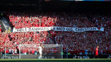 Denmark vs Belgium, Euro 2020 Clash Momentarily Halted As Teams, Fans Pay Tribute to Christian Eriksen (Watch Video)