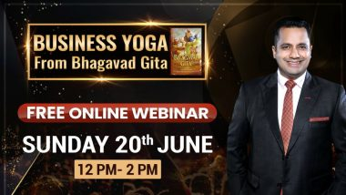 Business Yoga With Bhagavad Gita Live Streaming: Watch Free Webinar by Ed-Tech Start-Up Bada Business For Youth