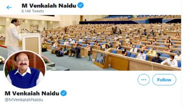 Twitter Restores Verified Blue Tick of Vice President M Venkaiah Naidu's Personal Handle After Removing It for Few Hours