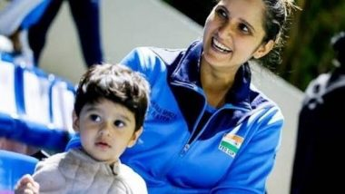 Nottingham Open 2021: Sania Mirza's Son Izhaan, Caretaker To Accompany Her to UK As Govt Approves Visa