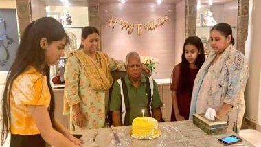 Lalu Prasad Yadav 74th Birthday: Former Bihar CM Celebrates His Birthday in Delhi, Daughter Misa Shares Photo