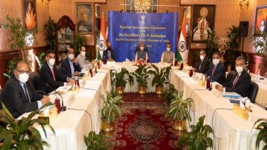 World News | Jaishankar Holds Meeting with Indian Envoys in Gulf Nations, Discusses Trade Interests
