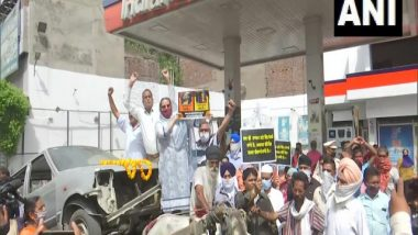 India News | Congress Holds Nationwide Protest Against Rising Fuel Prices