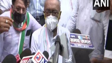 India News   Bhopal: Cases Filed Against Digvijaya Singh, 29 Others for 'unlawful Assembly'