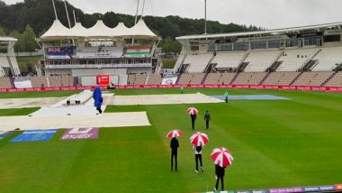 Sports News   WTC Final: Match Officials on the Field as It Continues to Drizzle in Southampton