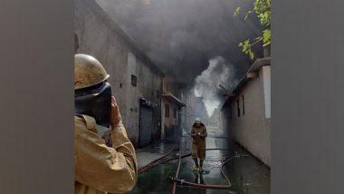Delhi: Fire Breaks Out at Shoe Factory in Udyog Nagar