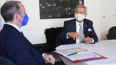 EAM S Jaishankar Holds Talks With UK Foreign Secretary Dominic Raab; Discusses Bilateral Issues, COVID-19 Pandemic