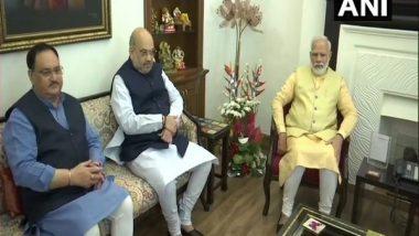 India News | Yogi Adityanath Meets Top BJP Leaders, Nadda, Shah Meet PM Modi