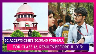 Supreme Court Accepts CBSE's 30:30:40 Formula For Class 12, Results Before July 31