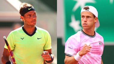 Rafael Nadal vs Diego Schwartzman French Open 2021 Live Streaming Online: How to Watch Free Live Telecast of Men's Singles Quarterfinal Tennis Match in India?