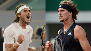 Alexander Zverev vs Stephanos Tsitsipas, French Open 2021 Live Streaming Online: How to Watch Free Live Telecast of Men's Singles Semi-Finals Tennis Match in India?