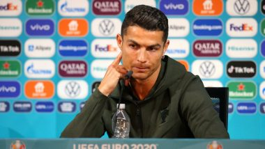 Cristiano Ronaldo Causes Coca Cola to Lose 4 Billion USD After Urging Everyone to 'Drink Water' Message During Euro 2020 Press Conference