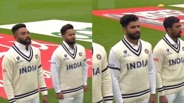 Indian Players Sport Black Armbands to Condole Milkha Singh's Death During India vs New Zealand WTC Final 2021