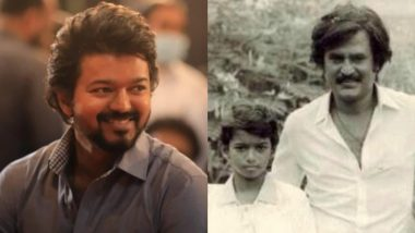 Thalapathy Vijay Birthday: Here's a Throwback Childhood Photo of the 'Beast' Actor With Superstar Rajinikanth!